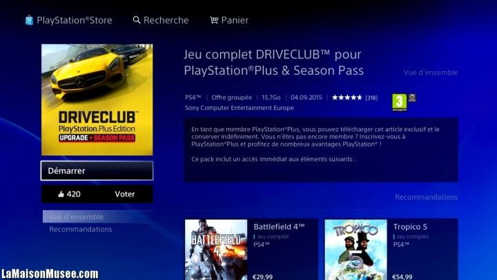 Essai DriveClub Version Integrale PS4