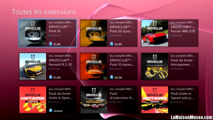 DLC 2015 DriveClub PSN