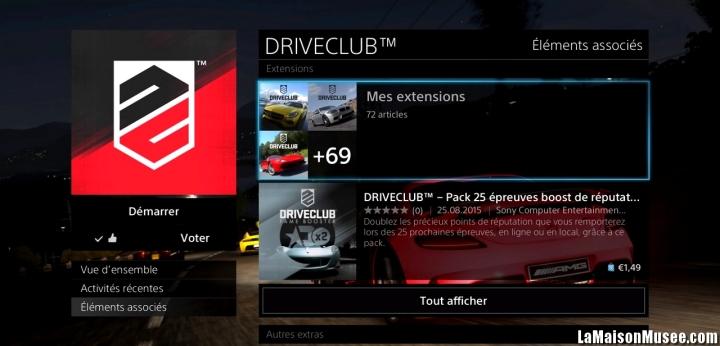 DLC DriveClub Extensions