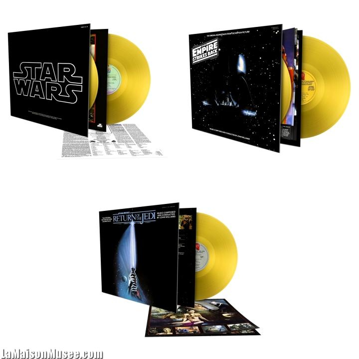 Trilogie Originale Star Wars Vinyles Or