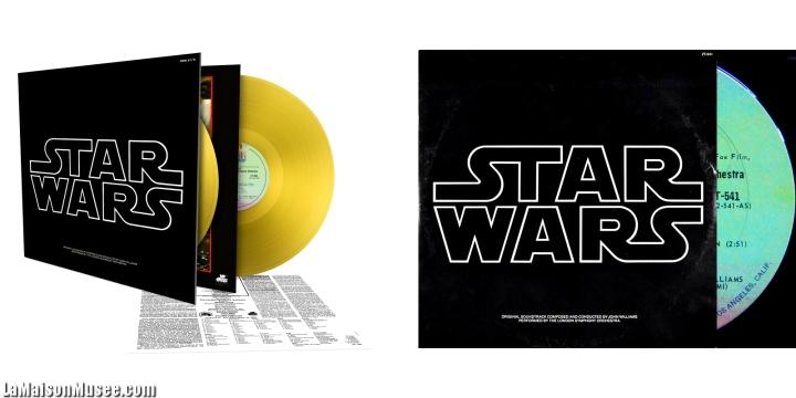 Comparaisons Vinyles Star Wars 2016 1977