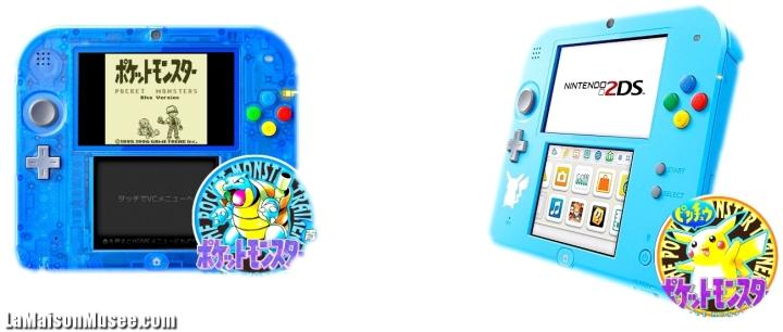 2DS Bleue Pokemon