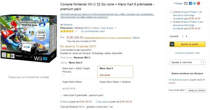 Prix Wii U Hausse 2016 2017